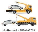 tow truck vector mock up.... | Shutterstock .eps vector #1016961205