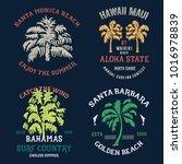 handmade surf set. badges...   Shutterstock .eps vector #1016978839