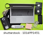 modern digital gadgets  storage ...   Shutterstock . vector #1016991451