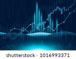 stock market or forex trading... | Shutterstock . vector #1016993371