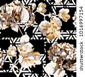 floral seamless pattern with... | Shutterstock .eps vector #1016997154