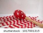 maracas is a wooden shake... | Shutterstock . vector #1017001315