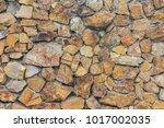 beautiful artistic stone wall.   Shutterstock . vector #1017002035