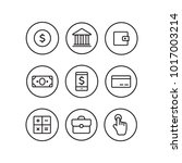 finance thin icons. finance... | Shutterstock . vector #1017003214