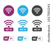 wireless and wifi icons.... | Shutterstock . vector #1017003241