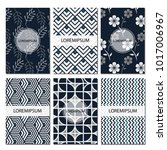 set of geometric patterns  ... | Shutterstock .eps vector #1017006967