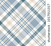 plaid check pattern in beige ... | Shutterstock .eps vector #1017011317
