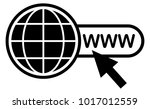 black web vector icon on white... | Shutterstock .eps vector #1017012559