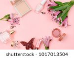 cosmetics  accessories and... | Shutterstock . vector #1017013504