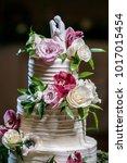 wedding cake at reception | Shutterstock . vector #1017015454