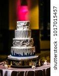wedding cake at reception | Shutterstock . vector #1017015457