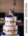 wedding cake at reception | Shutterstock . vector #1017015481