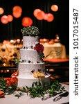 wedding cake at reception | Shutterstock . vector #1017015487