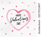 happy valentines day typography ... | Shutterstock .eps vector #1017021847
