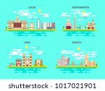 business city in england.... | Shutterstock .eps vector #1017021901