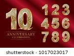 anniversary 10 years... | Shutterstock .eps vector #1017023017