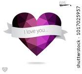 light pink  blue vector... | Shutterstock .eps vector #1017025957