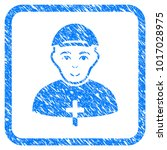 priest rubber seal stamp... | Shutterstock .eps vector #1017028975