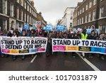 london  uk   february 3rd 2018  ... | Shutterstock . vector #1017031879