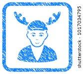 horned boyfriend rubber seal... | Shutterstock .eps vector #1017034795