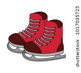 ice skates isolated | Shutterstock .eps vector #1017035725