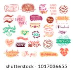 set of handmade  craft and art... | Shutterstock .eps vector #1017036655