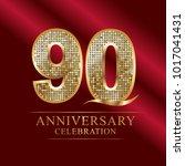 anniversary  aniversary  ninety ... | Shutterstock .eps vector #1017041431