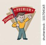 vintage retro premium quality... | Shutterstock .eps vector #101704165