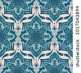 floral indian paisley pattern... | Shutterstock .eps vector #1017043894