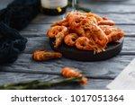 Seafood Shrimp. Close Up Of...