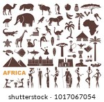 africa jungle ethnic culture... | Shutterstock .eps vector #1017067054