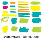 collection of hand drawn... | Shutterstock .eps vector #1017070081