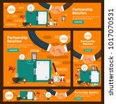 banner set flat design concept... | Shutterstock .eps vector #1017070531