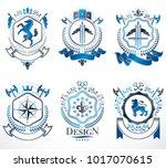 vector vintage heraldic coat of ...   Shutterstock .eps vector #1017070615