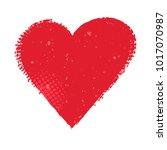grunge love symbol.vector heart ... | Shutterstock .eps vector #1017070987