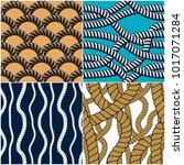 rope seamless patterns set ...   Shutterstock .eps vector #1017071284