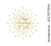 happy anniversary 1 burst... | Shutterstock .eps vector #1017072541