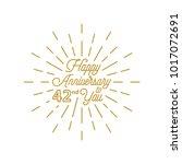 happy anniversary 42 burst... | Shutterstock .eps vector #1017072691
