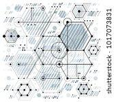 technical plan  engineering... | Shutterstock .eps vector #1017073831