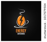 coffee bean logo. coffee energy ... | Shutterstock .eps vector #1017079504