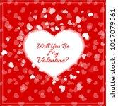 greeting card for st. valentine'... | Shutterstock .eps vector #1017079561