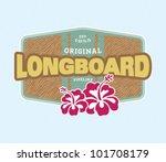 vintage surf crest   Shutterstock .eps vector #101708179
