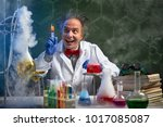 happy crazy chemistry with... | Shutterstock . vector #1017085087