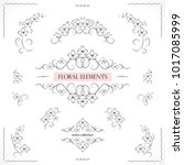 set of flourish frames  borders ... | Shutterstock .eps vector #1017085999