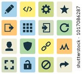 interface icons set with apps ... | Shutterstock .eps vector #1017086287