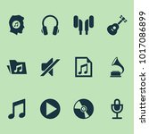 multimedia icons set with music ... | Shutterstock .eps vector #1017086899