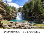 will waterfall in ordesa valley ... | Shutterstock . vector #1017089317