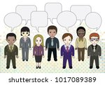 chibi style illustrations of a... | Shutterstock .eps vector #1017089389