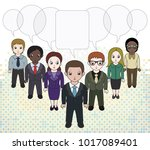 chibi style illustrations of a... | Shutterstock .eps vector #1017089401