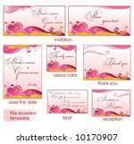 pink reception card set 4. to... | Shutterstock .eps vector #10170907